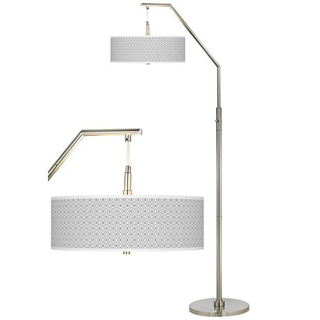 Diamonds Giclee Shade Arc Floor Lamp