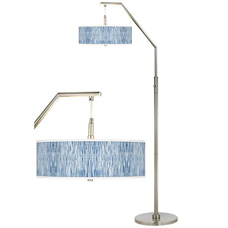 Beachcomb Giclee Shade Arc Floor Lamp