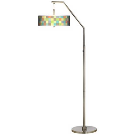 Pixel Light Giclee Shade Arc Floor Lamp