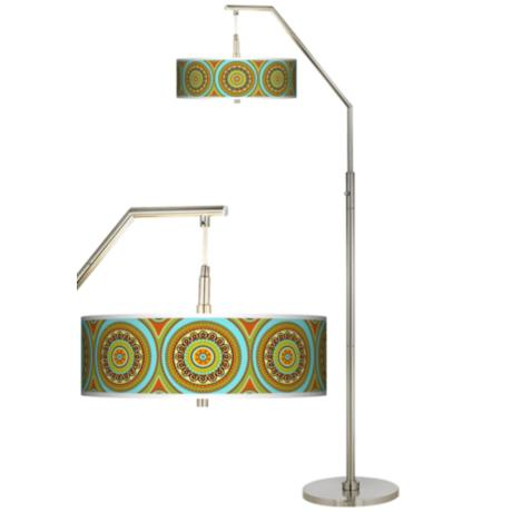 Stacy Garcia Arno Mosaic Daybreak Giclee Arc Floor Lamp