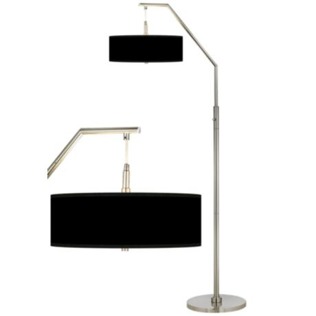 Black Shade Arc Floor Lamp