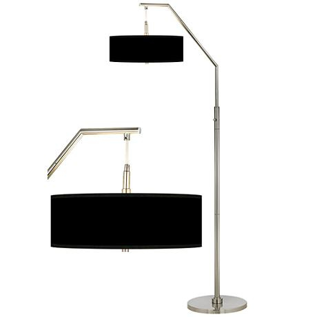 black shade arc floor lamp h5361 m2470. Black Bedroom Furniture Sets. Home Design Ideas
