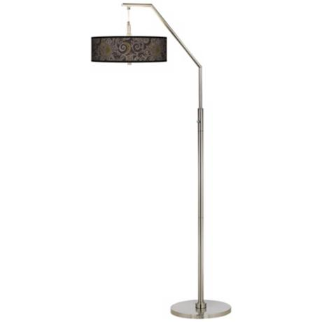 Stacy Garcia Ornament Metal Giclee Shade Arc Floor Lamp