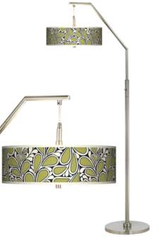 Stacy Garcia Rain Metal Giclee Shade Arc Floor Lamp