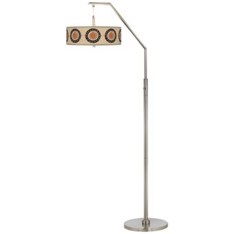 Travelers Compass Giclee Shade Arc Floor Lamp