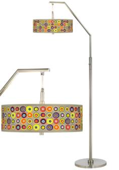 Marbles in the Park Giclee Shade Arc Floor Lamp