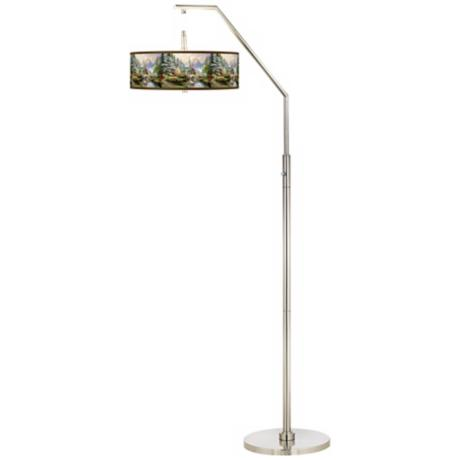 Thomas Kinkade Dogwood Chapel Arc Floor Lamp