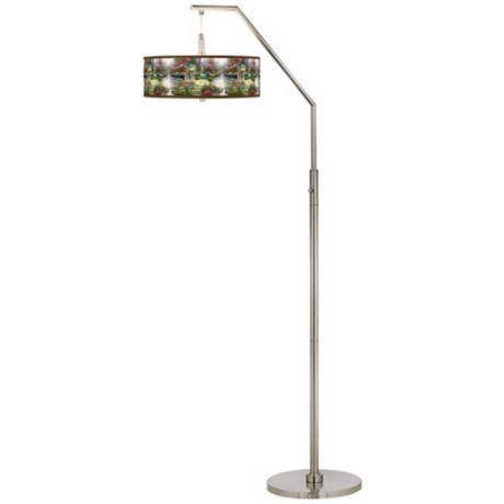 Thomas Kinkade The Garden of Prayer Arc Floor Lamp