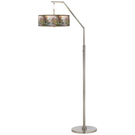 Thomas Kinkade Nature's Paradise Arc Floor Lamp