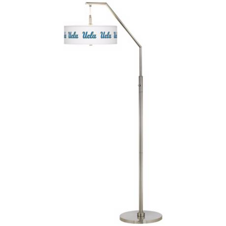 University of California Los Angeles Nickel Arc Floor Lamp