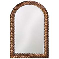 "Twisted Arch Antique Copper 40"" High Wall Mirror"