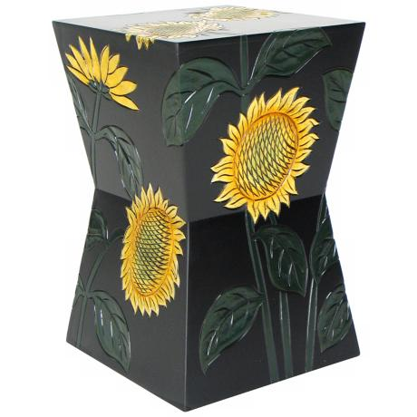 Sunflower Decorative Pedestal Stand