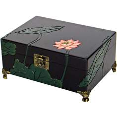 Lotus Flower Carved Decorative Box