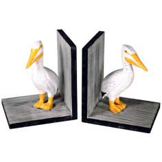 Set of Two Pelican Bookends