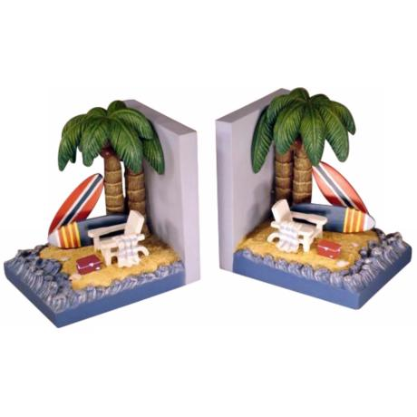 Surfing Beach Bookends