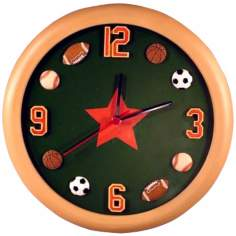"All Sports 12"" Wide Wall Clock"