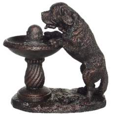 St. Bernard Antique Bronze Fountain