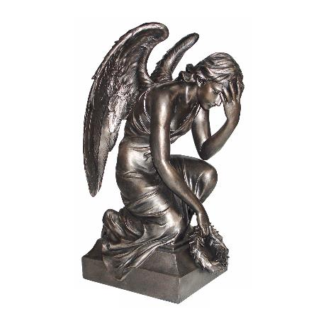Angel with Wings Antique Bronze Sculpture
