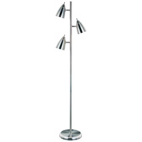 Lite Source Bullets Collection Polished Steel Floor Lamp