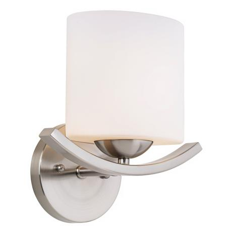 Wave Collection Etched Opal Glass Sconce