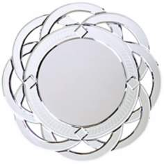 "Intersecting Rings Frameless Round 20"" Wide Wall Mirror"