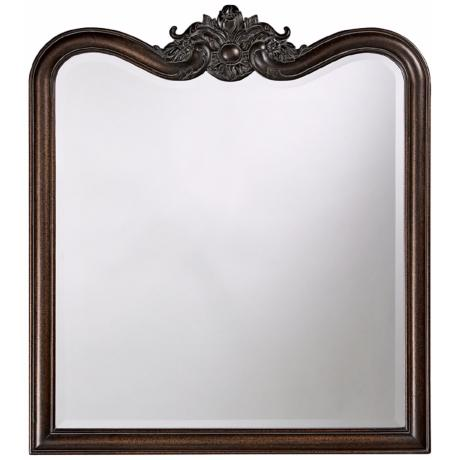 "Lorraine Crest Top 38"" High Wall Mirror"