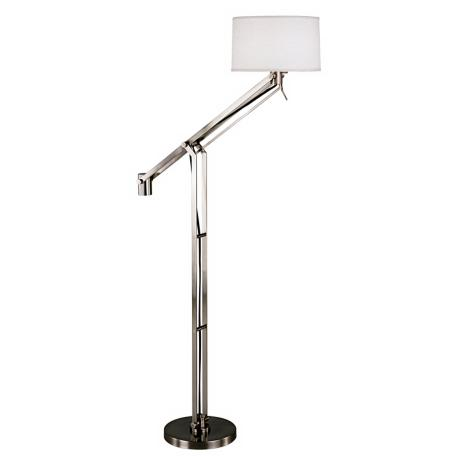 Robert Abbey Gilbert Nickel Boom Arm Floor Lamp