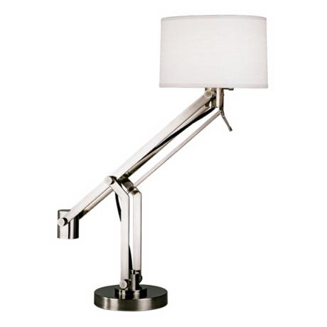 Robert Abbey Gilbert Nickel Boom Arm Desk Lamp