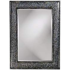 "Mother of Pearl Veneer 45"" High Wall Mirror"
