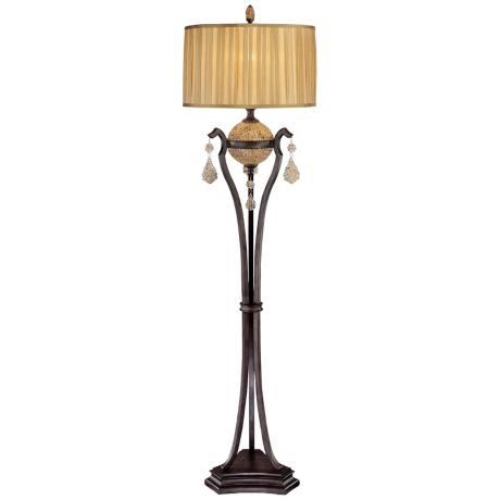 "Ambience Monte Titano Oro Bronze 65"" High Floor Lamp"