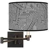 Labyrinth Giclee Bronze Swing Arm Wall Lamp
