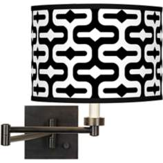 Reflection Giclee Bronze Swing Arm Wall Light