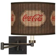 Coca-Cola® Vintage Brown Bronze Swing Arm Wall Light