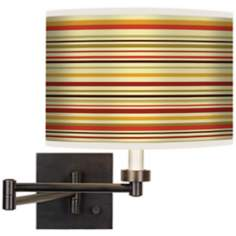 Stacy Garcia Lemongrass Stripe Bronze Swing Arm Wall Light