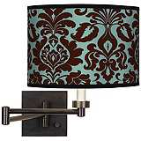 Stacy Garcia Kiwi Tini Florence Bronze Swing Arm Wall Light