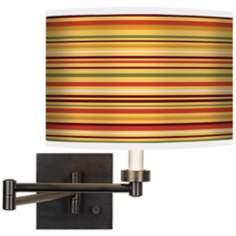 Stacy Garcia Harvest Stripe Giclee Bronze Swing Arm Wall Light