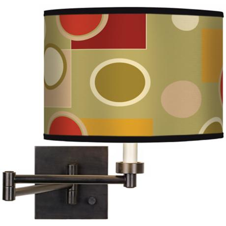 Retro Citrus Medley Giclee Bronze Swing Arm Wall Light