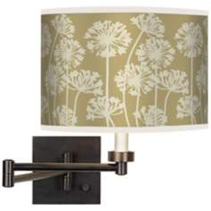 Stacy Garcia African Lily Birch Bronze Swing Arm Wall Light