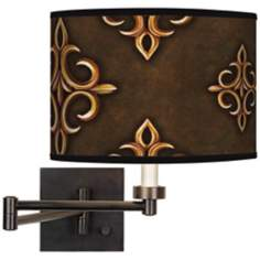 Estate Mocha Giclee Bronze Swing Arm Wall Light