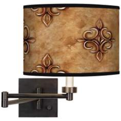 Estate Nutmeg Giclee Bronze Swing Arm Wall Light
