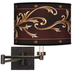 Athenian Leaf Giclee Bronze Swing Arm Wall Light