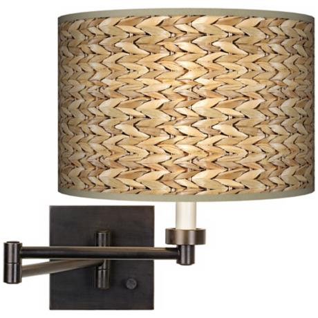 Seagrass Giclee Bronze Swing Arm Wall Light