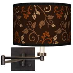 Foliage Giclee Bronze Swing Arm Wall Light