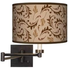 Fall Breeze Giclee Bronze Swing Arm Wall Light