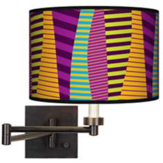 Mambo Giclee Bronze Swing Arm Wall Light