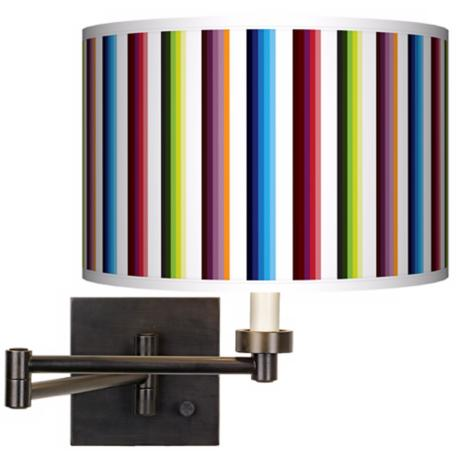 Technocolors Giclee Bronze Swing Arm Wall Light