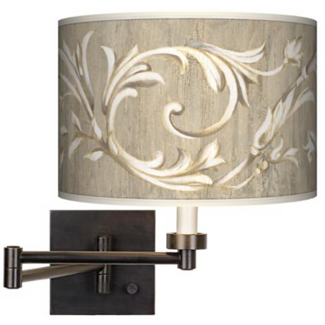Laurel Court Giclee Dark Bronze Plug-In Swing Arm Wall Light