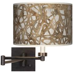 Organic Nest Giclee Dark Bronze Plug-In Swing Arm Wall Light