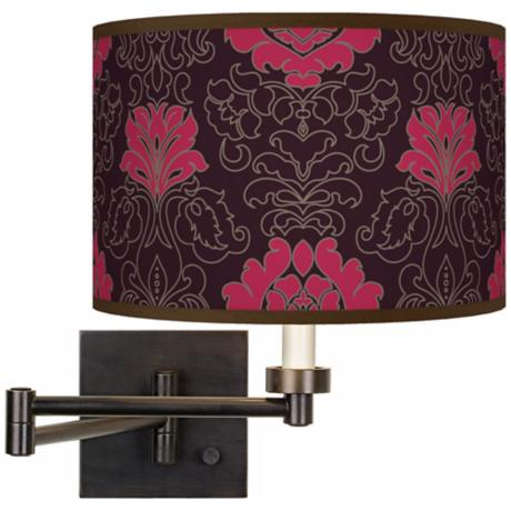 Stacy Garcia Florentia Wild Berry Bronze Swing Arm Wall Light
