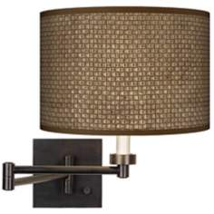 Interweave Giclee Bronze Swing Arm Wall Light